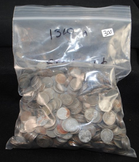 1310 WW II STEEL CENTS FROM SAFE DEPOSIT