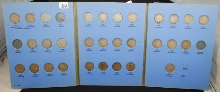 BOOK OF 5 CENT LIBERTY V NICKELS