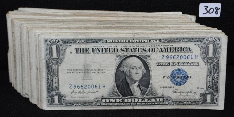 139 $1 SILVER CERTIFICATES - SERIES 1935