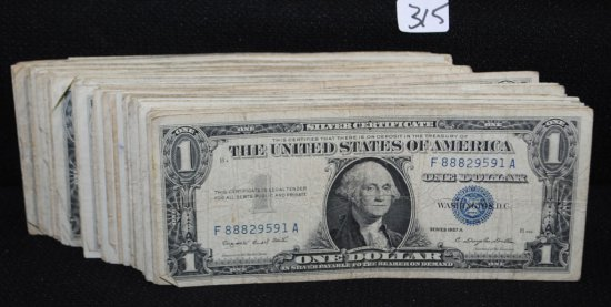 145 $1 SILVER CERTIFICATES - SERIES 1957