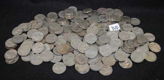 186 BUFFALO NICKELS FROM SAFE DEPOSIT