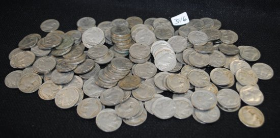 176 BUFFALO NICKELS FROM SAFE DEPOSIT