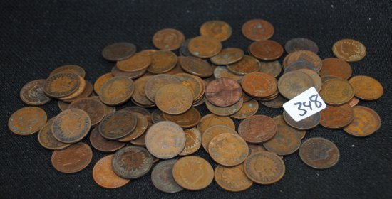 100 INDIAN HEAD CENTS FROM SAFE DEPOSIT