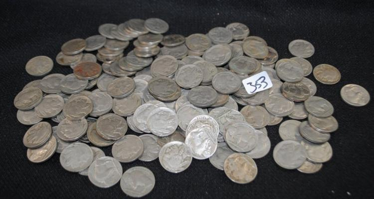 156 FULL DATE BUFFALO NICKELS FROM SAFE DEPOSIT