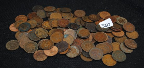 100 INDIAN HEAD CENTS FROM SAFETY DEPOSIT
