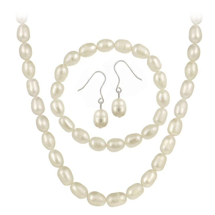 925 SILVER CULTURED PEARL SET