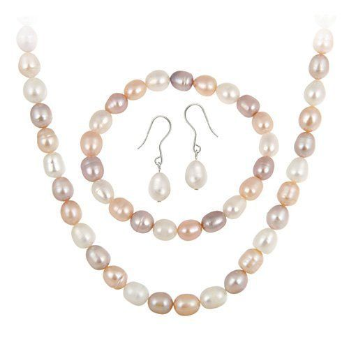 925 SILVER CULTURED FRESHWATER PEARL 3 PIECE SET