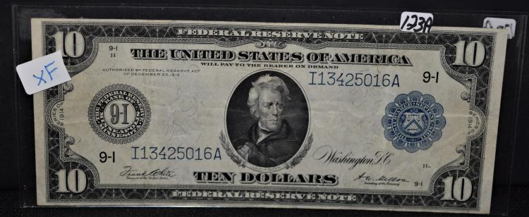 $10 FEDERAL RESERVE NOTE - SERIES 1914 - LARGE SIZE