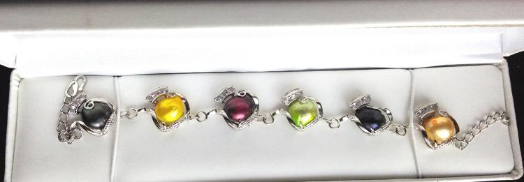 MULTI COLORED PEARL BRACELET
