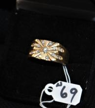 GENT'S VINTAGE 14K YELLOW GOLD DIAMOND RING