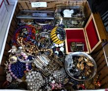 100'S OF PIECES OF COSTUME JEWELRY