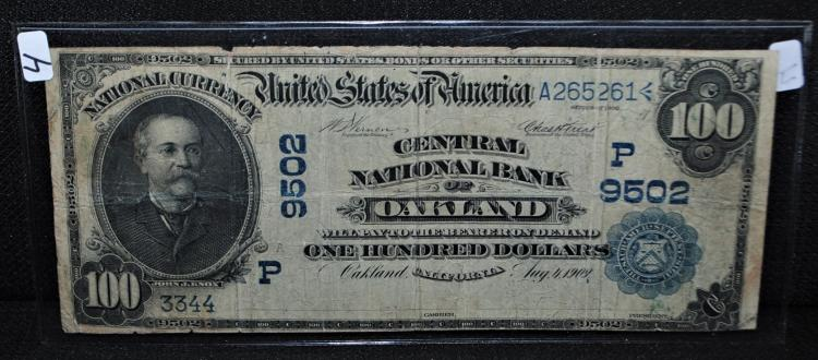 Rare 100 National Currency Quot Oakland Quot Note