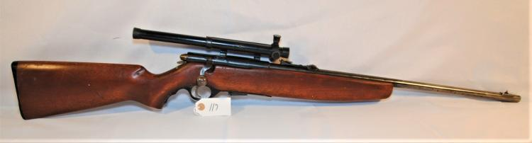 WARDS WESTERNFIELD .22 CAL S.L. & LR RIFLE W/SCOPE