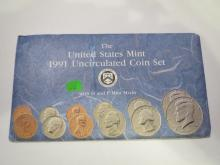 1991 US P & D Mint Set - UNC