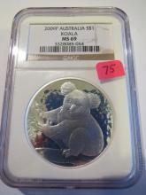 2009P Australia Koala 1 oz .999 Silver - NGC MS 69
