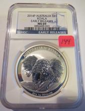 2014P Australia Koala 1 oz .999 Silver - NGC MS 69