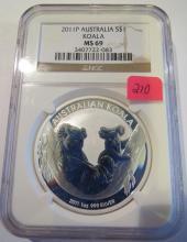 2011P Australia Koala 1 oz .999 Silver - NGC MS 69