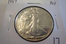 1947 Walking Liberty Half Dollar - AU