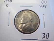 1950D Jefferson Nickel 4 Full Steps