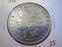 1880 Morgan Silver Dollar - cleaned