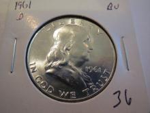 1961D Franklin Half Dollar - BU