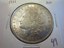 1921 Morgan Silver Dollar - AU+