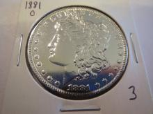 1881O Morgan Silver Dollar - UNC details Polished