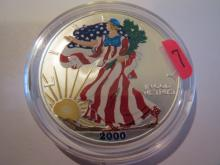 2000 American Silver Eagle - Colorized