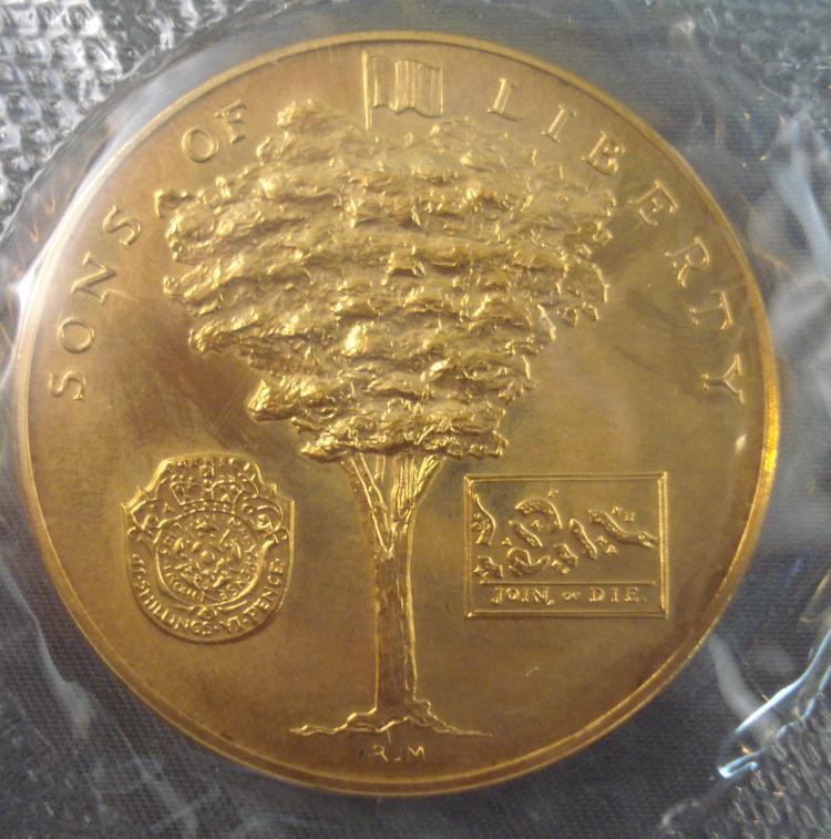 "George Washington /""Sons of Liberty/"" American Revolution Bicentennial Medal 1972"