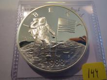 1988P US Mint American in Space Astronauts Silver Medal - Proof