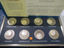 1976 America The Beautiful Medals Limited Edition Sterling Silver Set w/Box & COA - 1000 Grains per coin - 528 Grams Sterling Silver Total