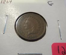 1864 Indian Head Penny Variety 3 - G