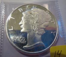 Mercury 1oz .999 Silver Round