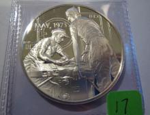 1973 Skylab 1 Eyewitness 25 Grams Sterling Silver Medal
