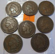 Indian Head Pennies - G to better 1895, 1896, 1897, 1898, 1899, 1901, 1902 & 1903