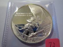 1974 Skylab 3 Eyewitness 25 Grams Sterling Silver Medal