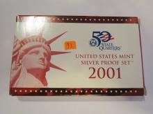 2001S US Silver Proof Set