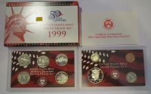 1999S US Silver Proof Set - First Year Statehood Quarters