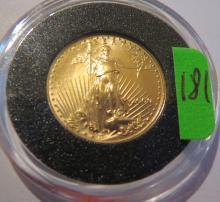 2000 Amercian 1/10 oz .999 Gold Eagle - UNC