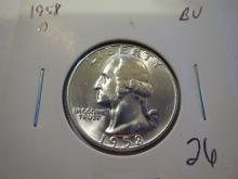 1958D Washington Silver Quarter