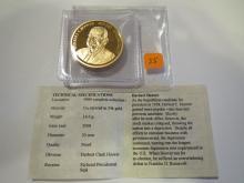Herbert Hoover Medal w/ Gold Overlay