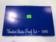 1968S US Proof Set - Silver Half Dollar