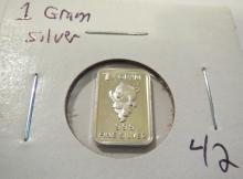 1 Gram Teddy Bear .999 Silver Round