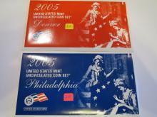 2005 US P & D Mint Set - UNC