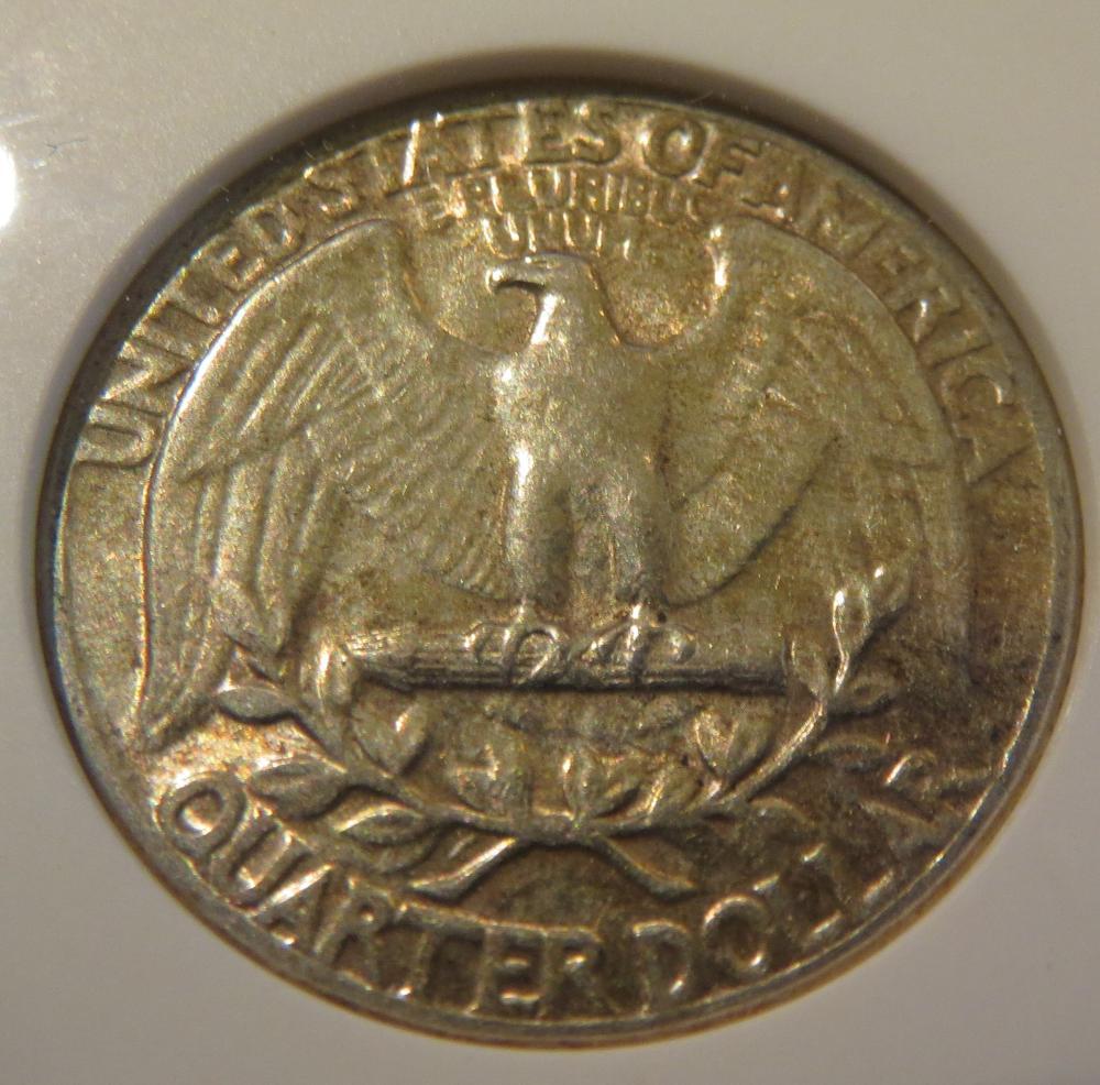 1957 Washington Silver Quarter - ANACS AU55 - Mint Error Double Die