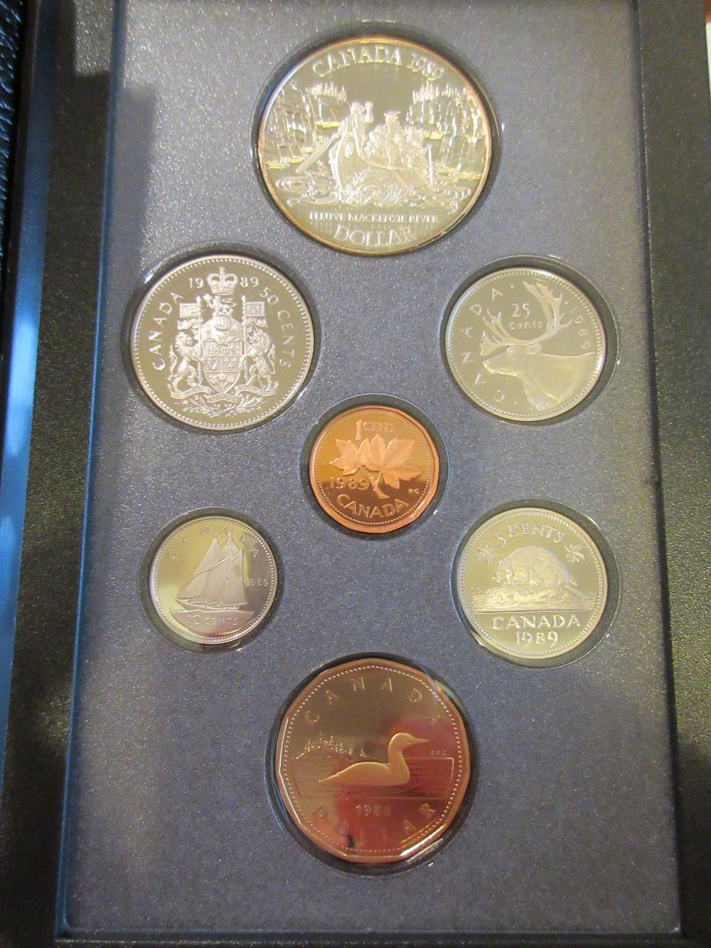 with COA 1989 Canada Double Dollar Proof Set