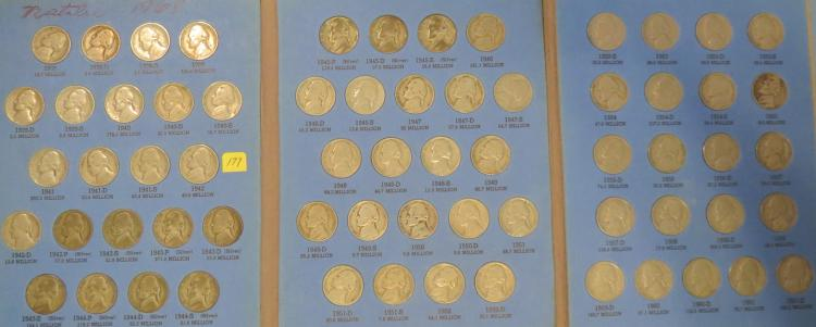 1938-1961 Jefferson Nickels Set w/Whitman Coin Folder