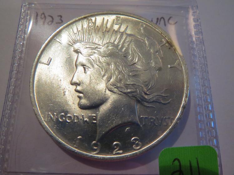 1923 Peace Silver Dollar - UNC