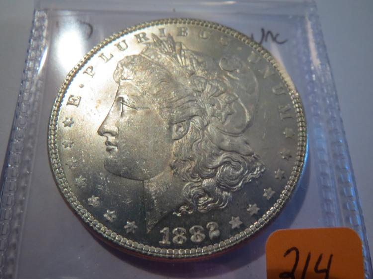 1882 Morgan Silver Dollar - UNC