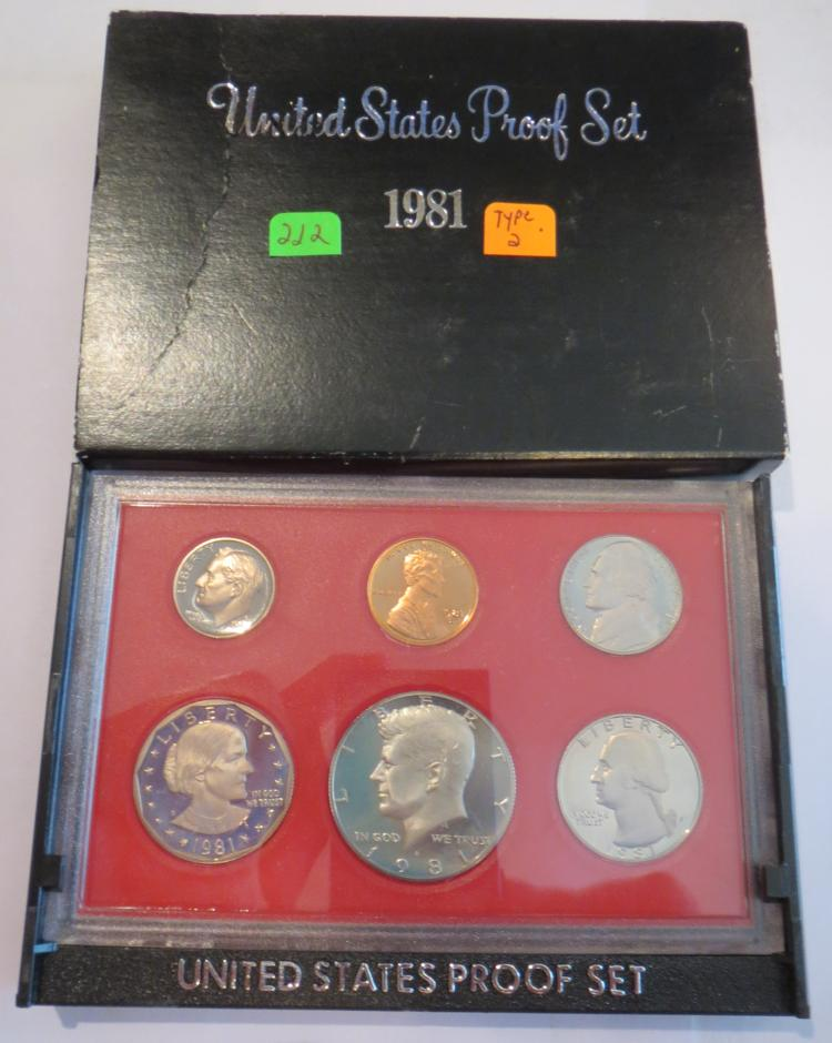 1981S US Proof Set - All Type 2